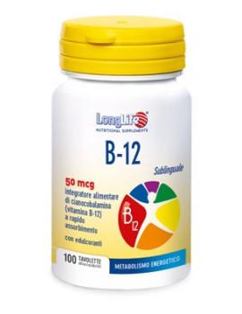 LONGLIFE B12 50MCG SUBL 100TAV